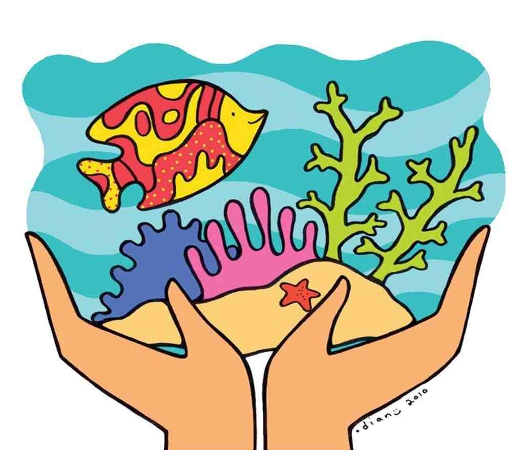 Coral Day Coralday Gambar Mewarnai Ekosistem Laut